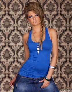Damen Tank Top Long Top Longshirt Ringer Rücken Racerback T Shirt 9