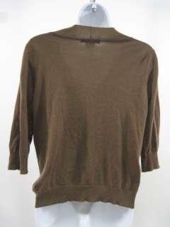 LAMBERTO LOSANI Brown Cashmere Cardigan Sweater Size M