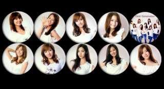 SNSD Girls Generation Taeyeon Tiffany Yuri Yoona Korea #1 Buttons Pins