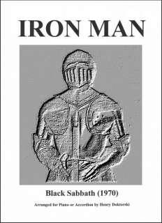 Printed Music Score and Audio Compact Disc: Black Sabbaths Iron Man
