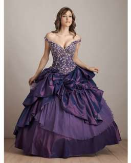 Purple Fashion prom gown/Quinceanera evening dress