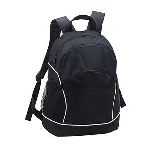 padded student college textbook school backpack  Black