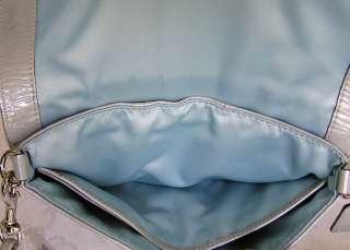 NEW COACH KRISTIN LEATHER CROSSBODY BAG PURSE CLUTCH GRAY 45369 NWT