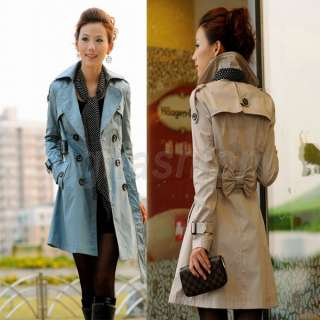 Neuf Femme Trench Coat Longue Veste Manteau 32 34 36