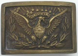 Brass Civil War Army Officer Spread Eagle Belt Buckle