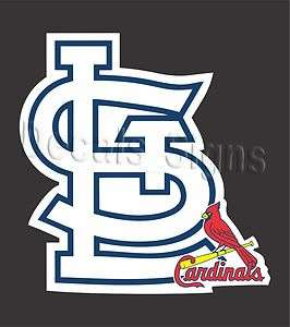 St. Louis Cardinals SL Logo Vinyl Decal Sticker 2 #58m
