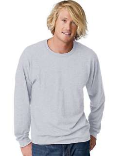 Hanes TAGLESS EcoSmart Mens Long Sleeve T Shirt   style 5179