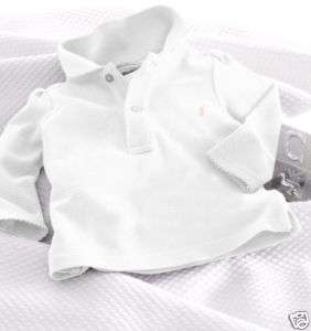 AUTH RALPH LAUREN BABY GIRLS LONG SLEEVE POLO TOP 6MTH