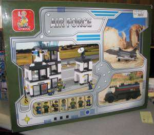 Sluban Building Blocks Air Force Military Air Base 563 PC Set Brand