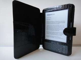 KINDLE 3 CASE COVER CROCODILE SKIN FOR KINDLE 3