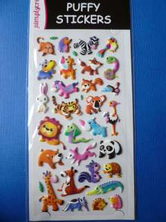 Simply Creative *ZOO/JUNGLE ANIMALS #2* Puffy Stickers