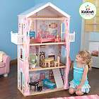 Girls Barbie Dolls Pink Toy Wooden Dollhouse & Dollshou