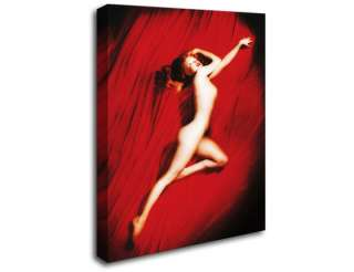 New Icons Marilyn Monroe Red Silk Canvas Wall Art