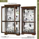 Howard Miller Large cherry Curio Display Cabinet glass mirror  680