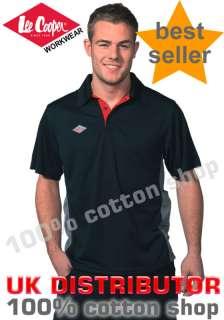 Lee Cooper Work Wear Polo Shirt Moisture Wicking Mens