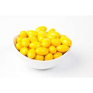 Yellow Chocolate Jordan Almonds (5 Pound Bag):  Grocery