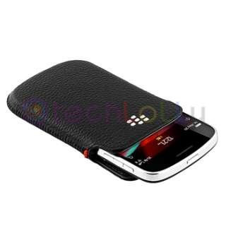 OEM Black Leather Cover Skin Case Sleeve For Blackberry Bold 9900 9930