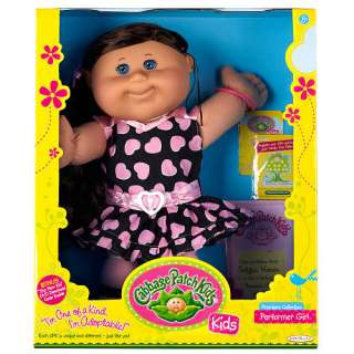 Cabbage Patch Kids Doll   Brunette Hair   Performer Girl   FAO Schwarz