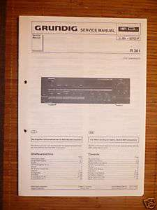 Service Manual für Grundig R 301 Receiver,ORIGINAL