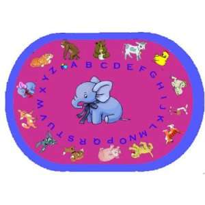 Baby Animals Learning Rug by Kids World Carpets Home & Kitchen