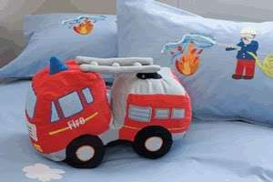Fire Truck Toy Cushion is designed to be durable and easy to care for