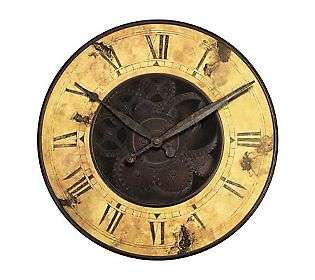 Rusty Gears Resin Wall Clock by Infinity   QVC
