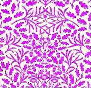 DOLLS HOUSE PURPLE ON WHITE ACORNS WALLPAPER A3