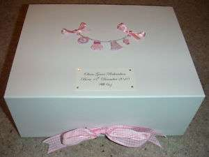 Large Personalised Baby Girl Gift Memory Keepsake Box