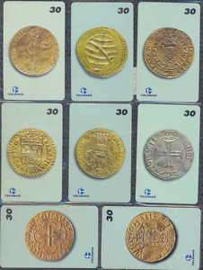 BRAZIL   MONEDAS ANTIGUAS   ANCIENT COINS  189 TARJETAS TELEFONICAS