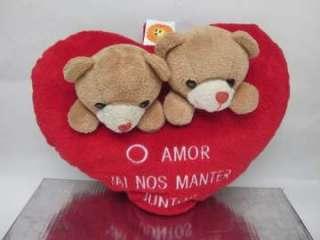 Peluche corazon con osos enamorados (8170213)    anuncios