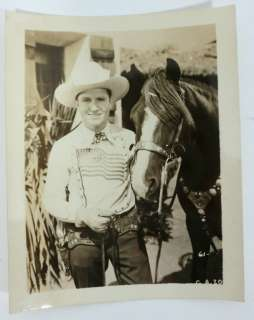1940s? Gene Autry and Horse Fan Photo