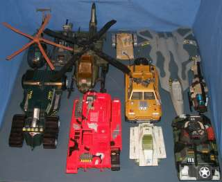 LARGE LOT of 11 GI JOE VEHICLES (G.I. JOE) TANKS + HELICOPTERS