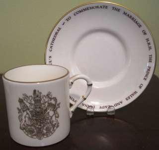 Princess Diana/Charles Wedding Demi Tasse Cup & Saucer