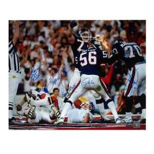 Lawrence Taylor Autographed Photograph   Sacking Elway 16x20 by Banks