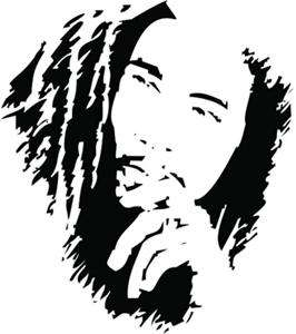 Bob Marley Vinyl Wall Art Decal Sticker