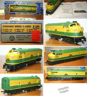 Old AHM HO Train Locomotive Fairbanks Morse C liner