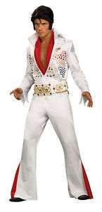ELVIS Grand Heritage Costume White Jumpsuit Sequins Wig