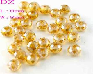 L2808 8mm Cute Faceted crystal Glass Rondelle bead 30pc