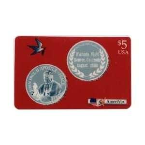 Collectible Phone Card $5. Pope John Paul II Historic Visit Denver