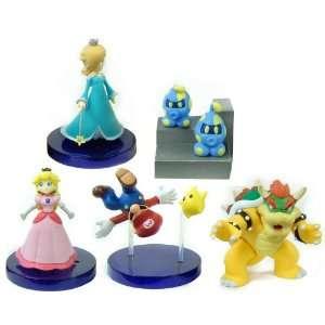 Super Mario Galaxy Desk Top Figure Gachaball Set Of 5