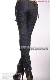 3mu Womens Designer Jeans Pants Denim Low Rise Sexy Stylish W26 27 28
