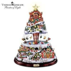 Thomas Kinkade Illuminated Musical Rotating Tabletop Christmas Tree