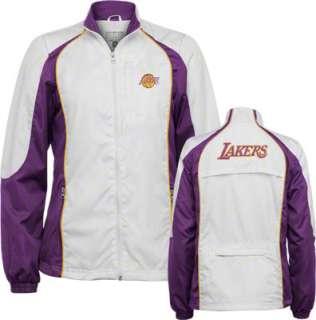 Los Angeles Lakers Womens Full Zip Color Blocked Purple Jacket