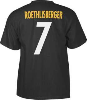 Roethlisberger Reebok Name and Number Pittsburgh Steelers T Shirt