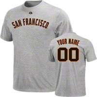 San Francisco Giants Custom/Personalized T Shirts, San Francisco