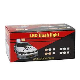 Police Style Car DC 12V 96 LED Red/Blue Stroboscopic Light with 3 Mode