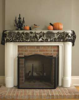 Add a dramatic Halloween touch to your mantle with this elaborately