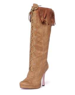 Womens Cheyenne Knee High Brown Boots