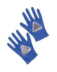 Blue Power Ranger Costume Gloves   Authentic Power Rangers Costume