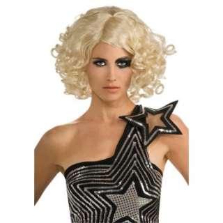 Lady Gaga Curly Blonde Adult Wig, 70923
